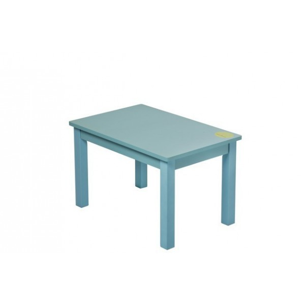 ma premi re table basse petit enfant bois massif turquoise bebe montessori. Black Bedroom Furniture Sets. Home Design Ideas