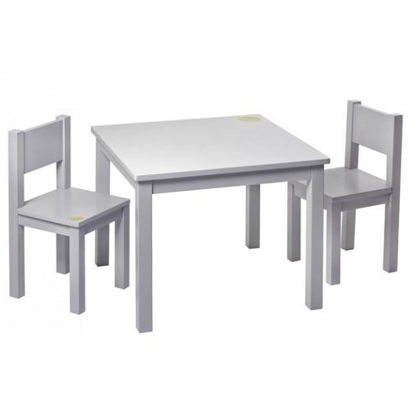 Kids chair x2 light grey pioupiou merveilles for Chaise et table enfant