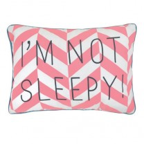 "Coussin message ""I'm not sleepy"""