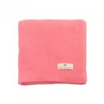 Bou Knitted blanket - coral pink