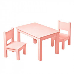chaise-rose-assortiment-table