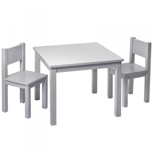 Kids table light grey pioupiou et merveilles - Table chaise bois enfant ...