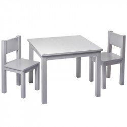 Kids Chair x2 - Light grey