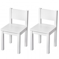 Lot de 2 - Chaise Enfant - Blanc