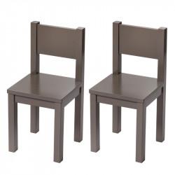 Kids Chair x2 - Taupe