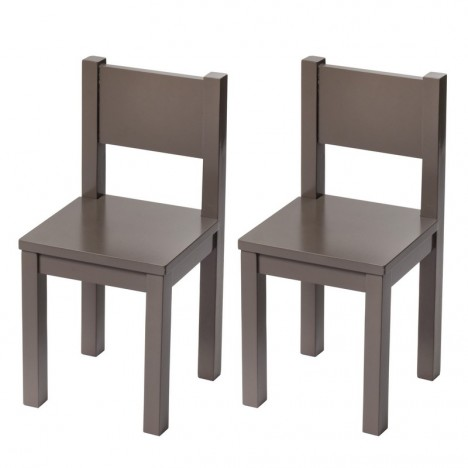 Kids Chair x2 - Taupe