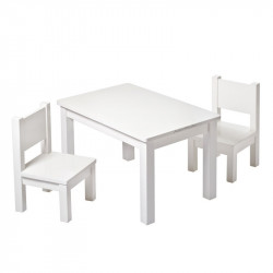 chaise-blanche-assortiment-table
