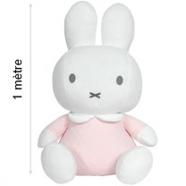 Peluche Miffy Safari 1 mètre - Rose