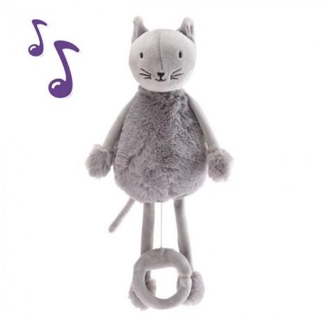Oscar Le chat - Peluche boîte à musique