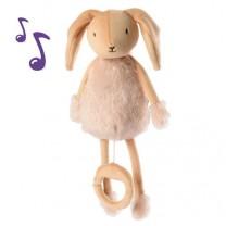 Valentin Le lapin - Peluche boîte à musique