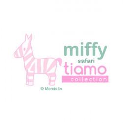 Hochet Miffy matelassée - Rose