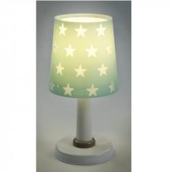 lampe-de-table-verte-etoiles