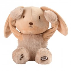 Peek a boo musical soft toy Valentin the bunny