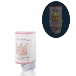Veilleuse phosphorescente Princess rose