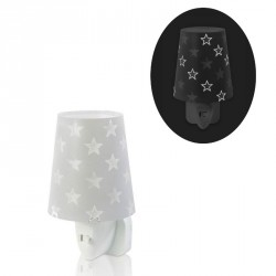 Phosphorescent nightlight Stars Grey