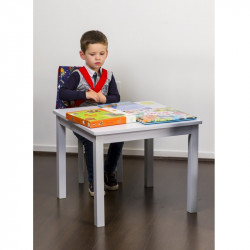 table-enfant-gris