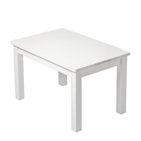 Ma Premiere Table Basse Petit Enfant Bois Massif Blanc Bebe Montessori