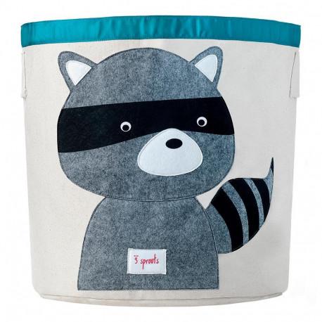 sac rangement pour enfants 3 sprouts raton laveur. Black Bedroom Furniture Sets. Home Design Ideas