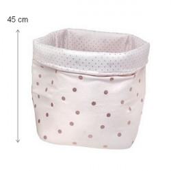 Panier Confetti Medium rose clair