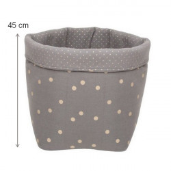 Storage Basket Confetti grey L