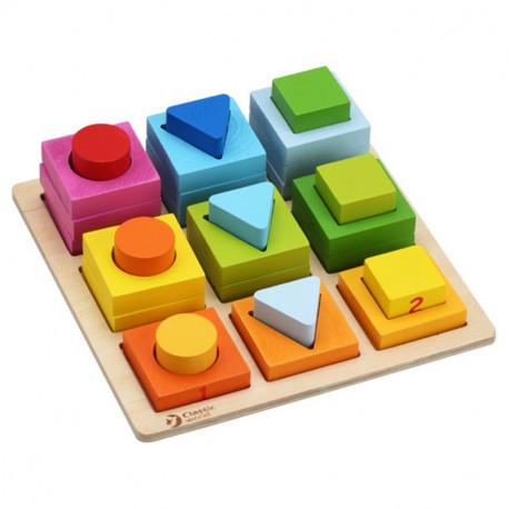 Blocs-Géométriques-Forme-jouet-en-bois