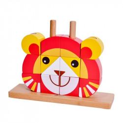 Puzzle-Vertical-Lion-jouet-en-bois