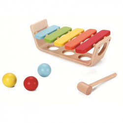 Xylophone and tap balls