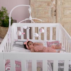 Musical mobile Miffy - Pink babyrib