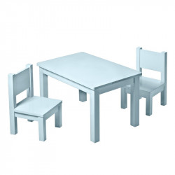 chaise-bleu-gris-assortiment-table