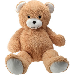 Giant teddy bear Gaston - Beige 100cm
