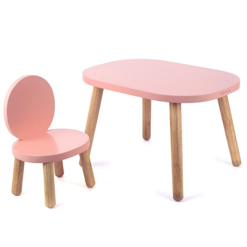 Ma première table enfant design Ovaline, Montessori bois