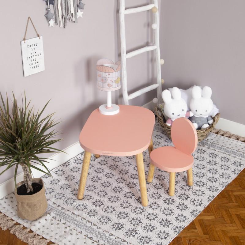 Ma première chaise Ovaline rose, bois massif, bébé enfant