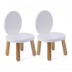Set of 2 - My first Chair Ovaline- White