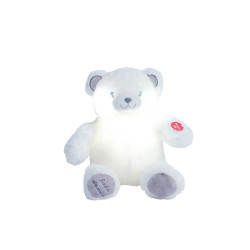 Peluche-Gaston-Ourson-Lumineux-Blanc-Gris-28cm-pour-dormir