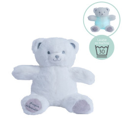 Mini Gaston night light bear - white-grey