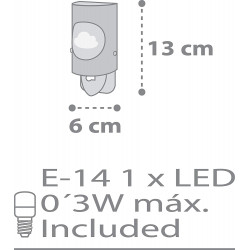 DALBER - Veilleuse Phosphorescente - MARIN