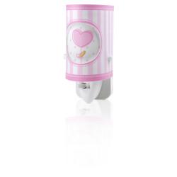 Veilleuse Phosphorescente Rose - Sweet Light - Dalber