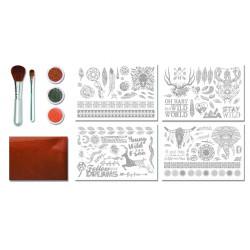 coffret activite manuelle kit creatif style boho
