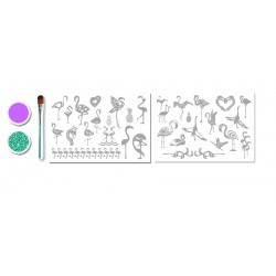 Mini Kit Tatouages Flamand Rose -Glitza