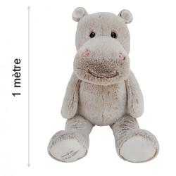 Peluche Géante Léo le Hippo - 100 cm