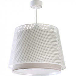 Suspension lampe chambre enfant Vichy beige