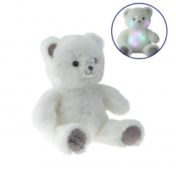 Peluche lumineuse Gaston l'Ourson blanc - 40 cm