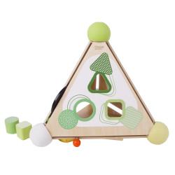 Pyramide d'activité en bois - 30cm