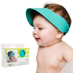 Visière pare-shampoing en silicone – Bleu aqua - Käp