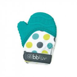 Gant de dentition pour bébé Bleu aqua - Glüv