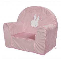 fauteuil bébé miffy rose velours