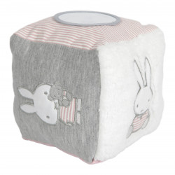 Miffy quilted activity cube pink