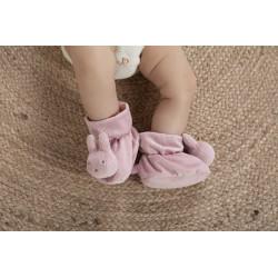 Chaussons hochet bébé Miffy - Tricot Vert Amande