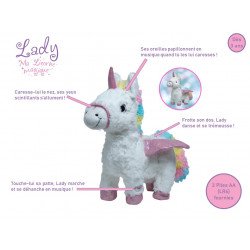 Peluche interactive Popy le Lama