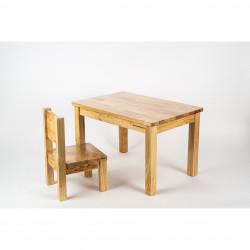 Ensemble Table et Chaises Montessori - Bois naturel